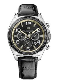 Relógio Luxo Tommy Hilfiger Th1790936 Orig Chron Anal Couro!