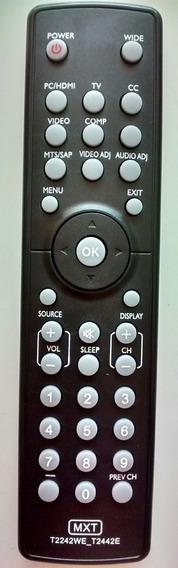 Controle Tv Aoc Lcd / Led Modelo Le22h138 Com 10 Peças