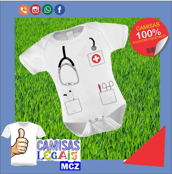 Body De Bebê Personalizado Médico (a)