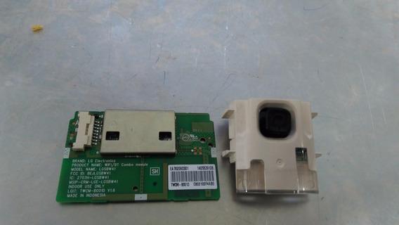 Placa Wifi E Botão Power Tv Lg 42lb6500