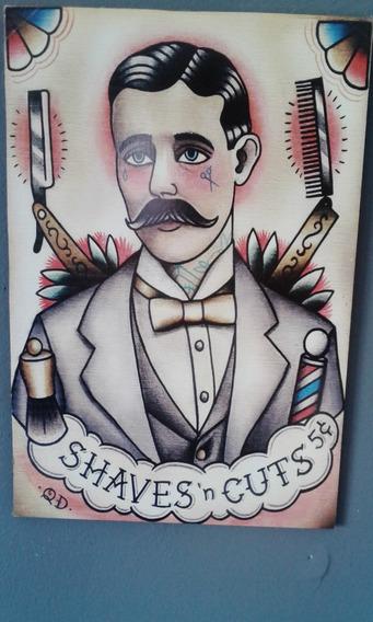 Quadro Barbearia Old