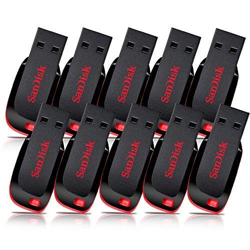 Kitcom 10u Pen Drive Sandisk 8 Gb Cruzer Blade 100% Original