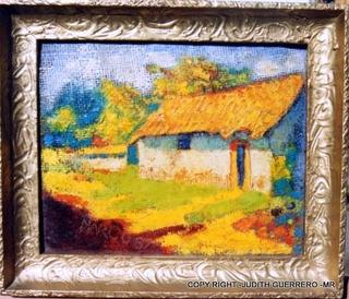 Pintura Oleo Sobre Carton 26 X 20 Cm