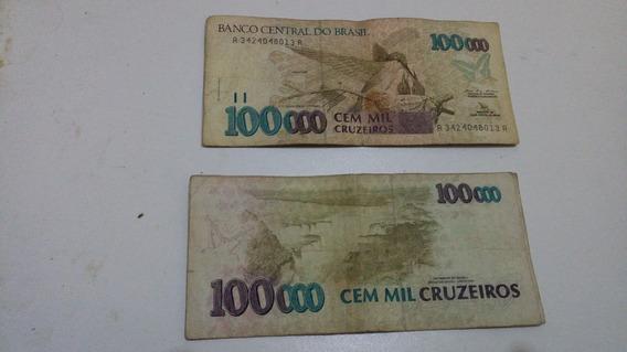 Cedula De 100.000 Cruzeiros