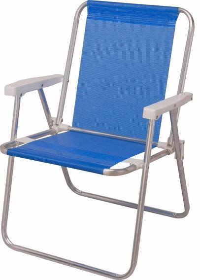 Cadeira De Praia Mor Sannet Azul