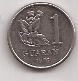 Paraguay Moneda De 1 Guarani Año 1976 !!