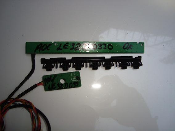 Sensor Do Comtrole Remoto E Placa E Teclado Tv Aoc Le32d0330