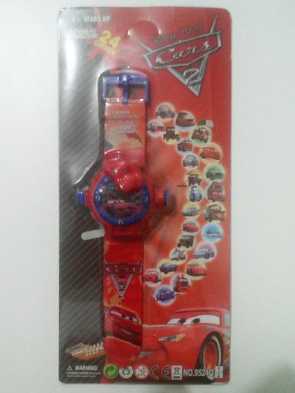 Relógio Infantil Carros Disney Projeta 24 Imagens