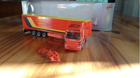 Miniatura Carreta Baú Scania Personalizada