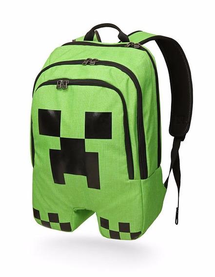 Mochila Minecraft Creeper Entrega Inmediata