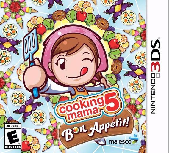Jogo Cooking Mama 5 Bon Appetit Nintendo 3ds Novo Lacrado