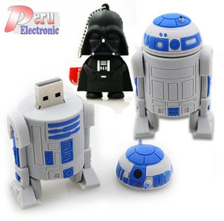 Memoria Usb 8 Gb Star Wars - Diseño R2d2 Darth Vader Yoda