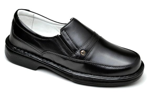 Sapato Sapatilha Masculina Para Igreja Couro Barato Cla Cle