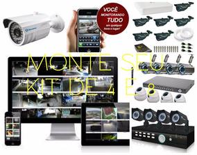 Kit 4 Câmeras Instalado Aparte De 1200