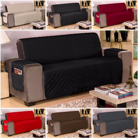 Capa Protetor Sofa 3 Lugares Microfibra Objetos Varias Cores