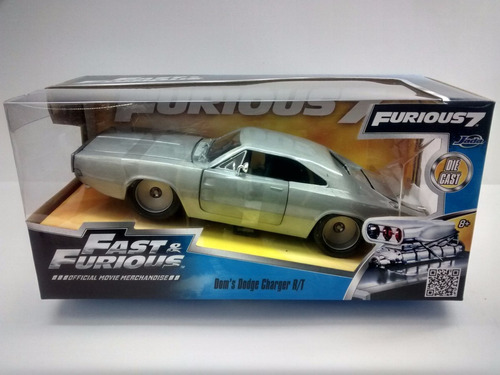 Dodge Charger R/t W 1:24 Rapidos Y Furiosos Jada Toys.