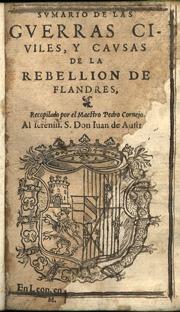 Sumario Guerras Civiles Y Causas  Rebellion Flandres 1577