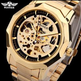 Relógio Masculino Aço Inoxidável Luxuoso Automático Mecânico