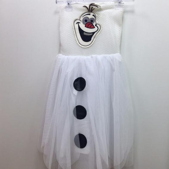 Vestido Fantasia Infantil - Frozen - Olaf - Fever