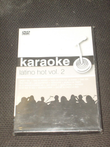 Dvd Karaoke Latino Hot Vol 2 Año 2007 J Venegas F De Vita