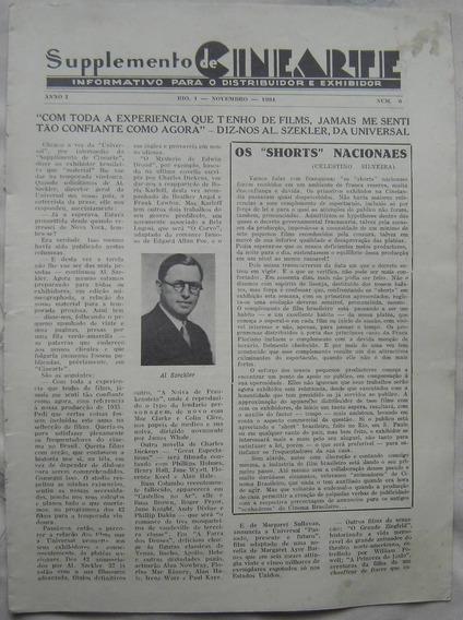 Suplemento Revista Cinearte - Novembro De 1934.