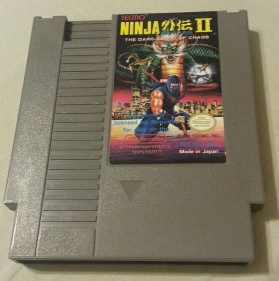 Nes: Ninja Gaiden Ii Original Americano! Raríssimo! Novinho!