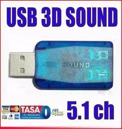 Tarjeta Sonido Audio Externo 5.1ch Usb Adaptador 3d Dj Micro