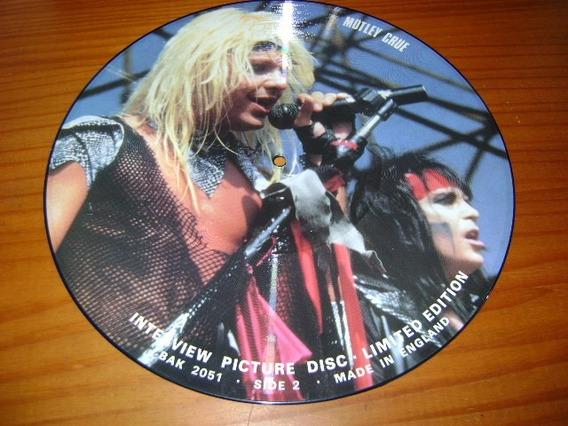 Motley Crue - Lp Picture Disc - Erro De Prensagem C/ Judas
