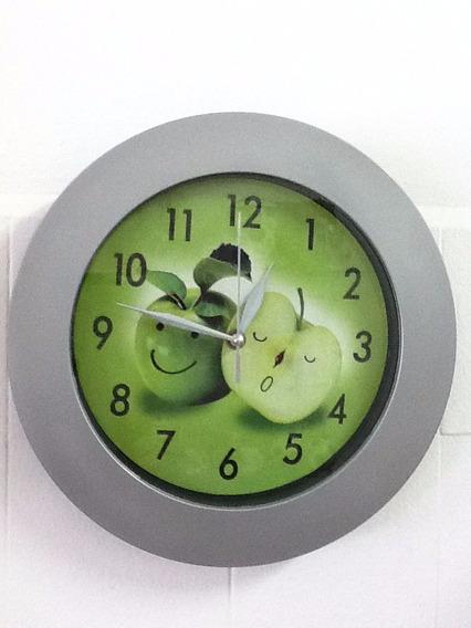 Relógio Com Estampa Maçã Verde Preço De Atacado 1 Unidade