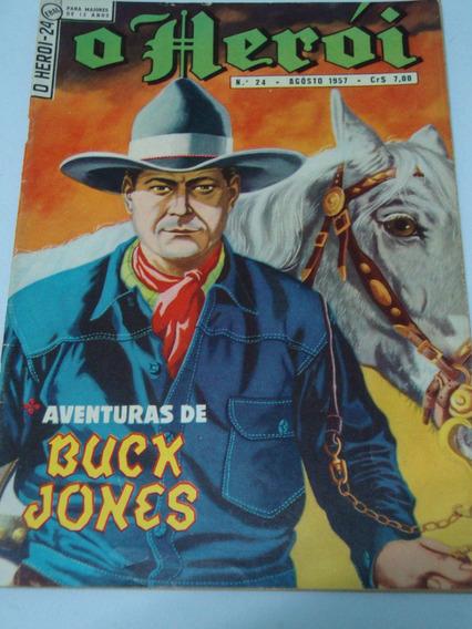 O Herói Nº 24 De 1957 Buck Jones Ebal Gibi Raro Antigo Banca