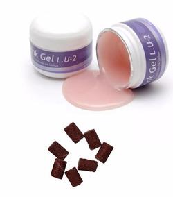 Gel Pink L.u-2 - Piu Bella 14g + Pct. C/10 Lixas Send Grátis