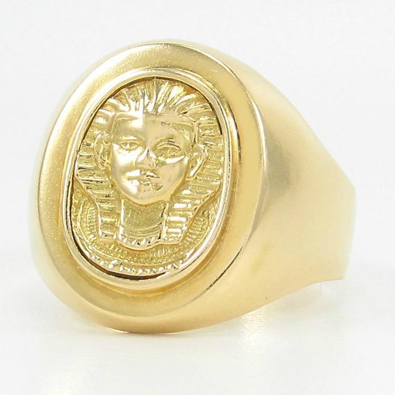 Esfinge Jóias - Anel Egípcio Tutankamon Egito Aro17 Ouro 18k