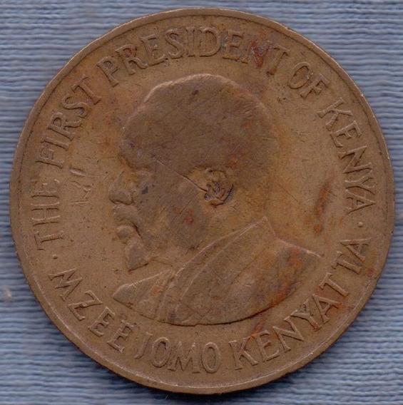 Kenia 10 Cents 1971 * Primer Presidente Jomo Kenyatta *