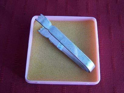 Pinza Para  Azúcar En Metal Plateada