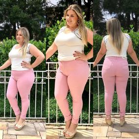 Calça Jeans Moda Plus Size Rasgada Clochard Lycra Lançamento