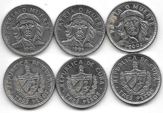 2 Monedas De Cuba Che Guevara Año 1992 1995 2002 A Elegir