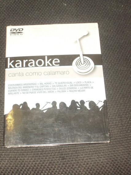 Dvd Karaoke Canta Como Calamaro Año 2007 Mil Horas Te Quier