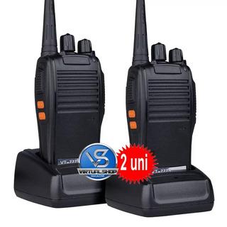 Radio Comunicador Walk Talk 777s + Fone De Ouvido 16 Canais