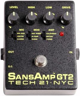 Pedal Preamp Sansamp Gt-2 Para Guitarra British Mesa