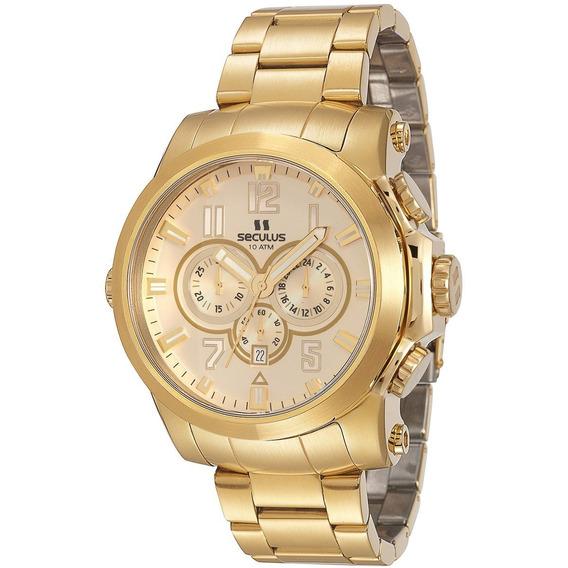 Relógio Seculus Masculino 13005gpsvda1 Frete Gratis