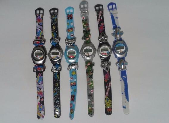 12 Relógio De Pulso Infantil 6 Meninos E 6 Meninas