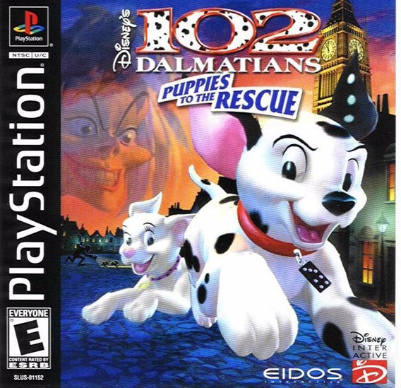 102 Dalmatas Puppies To The Rescue Playstation 1