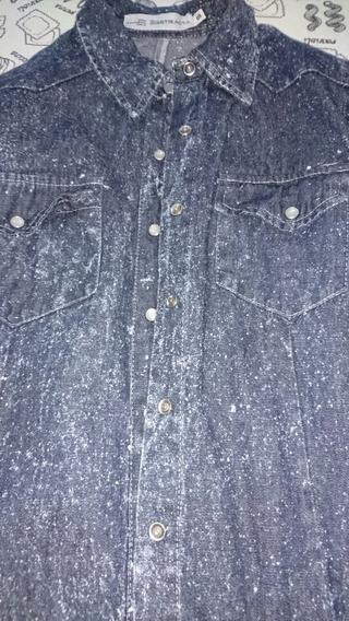 Camisa De Jeans Marca Abstracta Divina Como Nueva