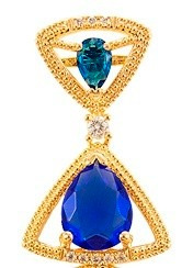 Brinco Cristal Azul