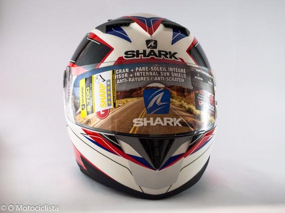 Capacete Tam. 60 Shark S700 Special Edition Lab Bran/verm.