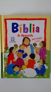 Livro Bíblia De Aparecida Para Crianças Capa Dura Infantil
