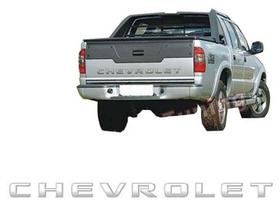 Adesivo Prata Degrade Chevrolet S10 Caçamba Tampa Traseira