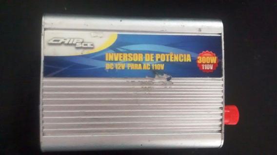 Inversor De Tensão Veicular Chip Sce - 300w - 12v Para 110v