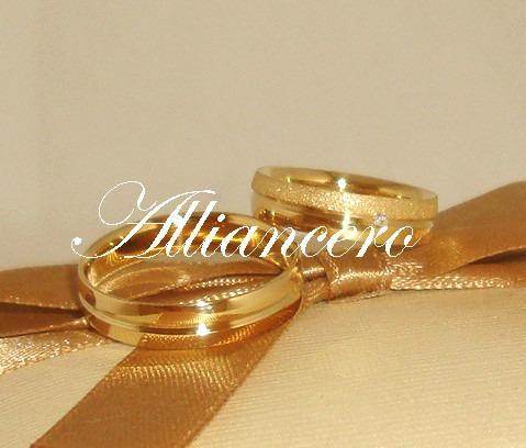 Aliança Ouro 18k 7gr - Frete Gratis - Casamento Alliancero