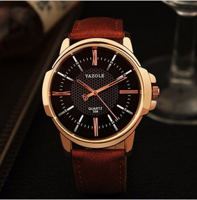 Relógio Barato Social Masculino Mostrador Preto M/ Yazole
